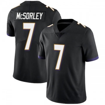 Youth Nike Baltimore Ravens Trace McSorley Black Alternate Vapor Untouchable Jersey - Limited