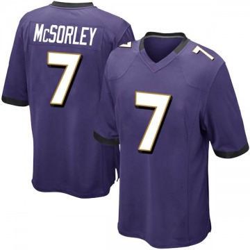 Youth Nike Baltimore Ravens Trace McSorley Purple Team Color Jersey - Game