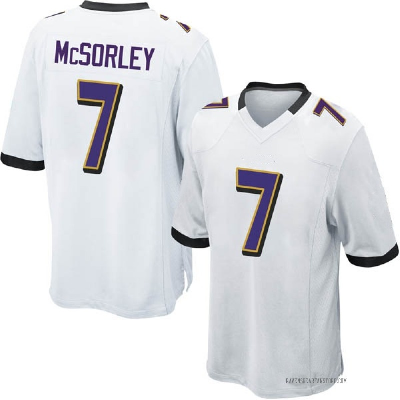 big sale 72383 f4a76 Youth Nike Baltimore Ravens Trace McSorley White Jersey - Game