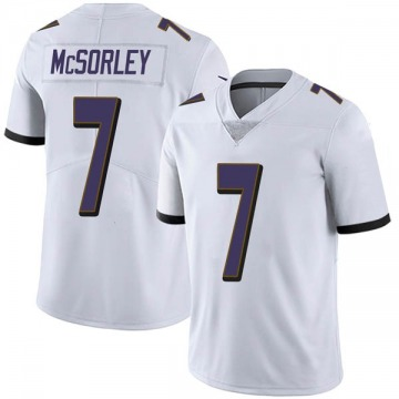 Youth Nike Baltimore Ravens Trace McSorley White Vapor Untouchable Jersey - Limited