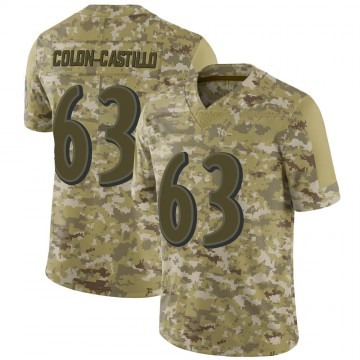 Youth Nike Baltimore Ravens Trystan Colon-Castillo Camo 2018 Salute to Service Jersey - Limited