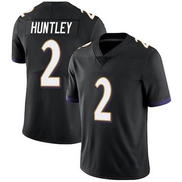 Youth Nike Baltimore Ravens Tyler Huntley Black Alternate Vapor Untouchable Jersey - Limited