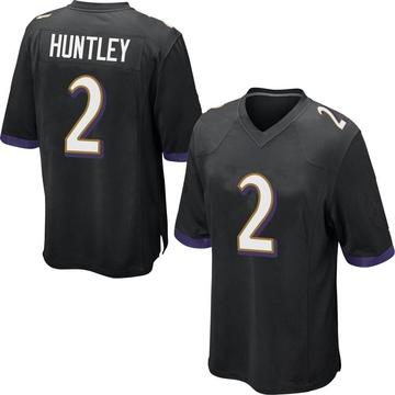 Youth Nike Baltimore Ravens Tyler Huntley Black Jersey - Game