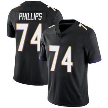 Youth Nike Baltimore Ravens Tyre Phillips Black Alternate Vapor Untouchable Jersey - Limited
