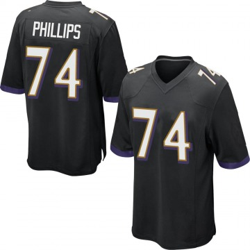 Youth Nike Baltimore Ravens Tyre Phillips Black Jersey - Game