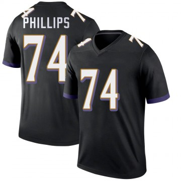 Youth Nike Baltimore Ravens Tyre Phillips Black Jersey - Legend