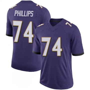 Youth Nike Baltimore Ravens Tyre Phillips Purple 100th Vapor Jersey - Limited