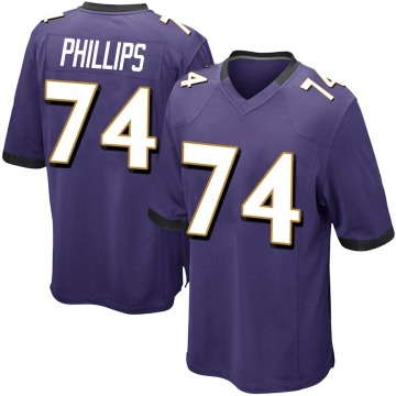 Youth Nike Baltimore Ravens Tyre Phillips Purple Team Color Jersey - Game