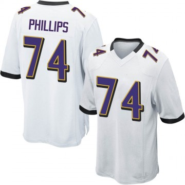 Youth Nike Baltimore Ravens Tyre Phillips White Jersey - Game