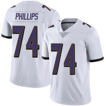 Youth Nike Baltimore Ravens Tyre Phillips White Vapor Untouchable Jersey - Limited