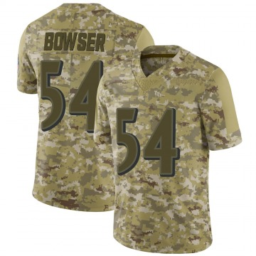 Youth Nike Baltimore Ravens Tyus Bowser Camo 2018 Salute to Service Jersey - Limited