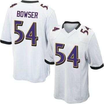 Youth Nike Baltimore Ravens Tyus Bowser White Jersey - Game
