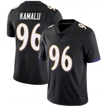 Youth Nike Baltimore Ravens Ufomba Kamalu Black Alternate Vapor Untouchable Jersey - Limited