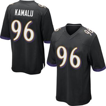 Youth Nike Baltimore Ravens Ufomba Kamalu Black Jersey - Game