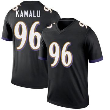 Youth Nike Baltimore Ravens Ufomba Kamalu Black Jersey - Legend