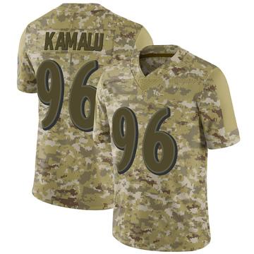 Youth Nike Baltimore Ravens Ufomba Kamalu Camo 2018 Salute to Service Jersey - Limited