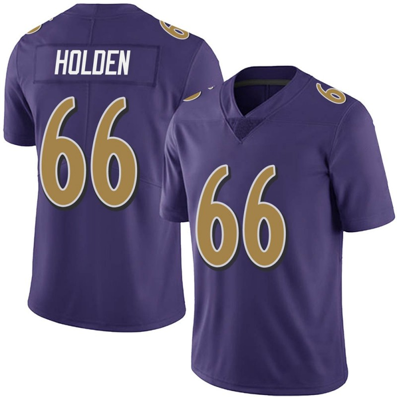 Youth Nike Baltimore Ravens Will Holden Purple Team Color Vapor Untouchable Jersey - Limited