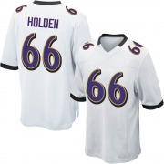 Youth Nike Baltimore Ravens Will Holden White Jersey - Game
