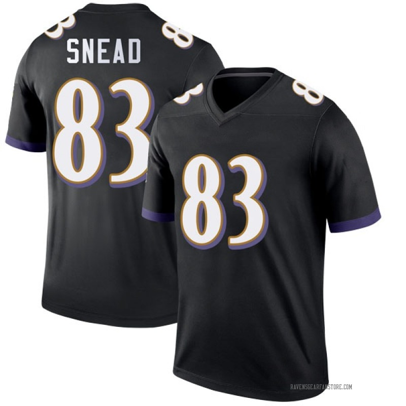 Youth Nike Baltimore Ravens Willie Snead IV Black Jersey - Legend