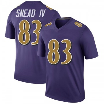 Youth Baltimore Ravens Willie Snead IV Purple Color Rush Jersey - Legend