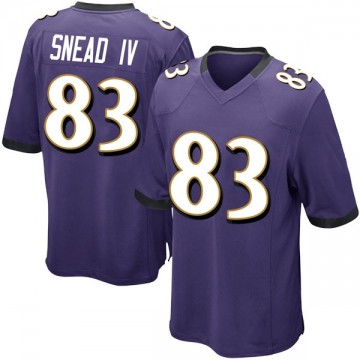 Youth Nike Baltimore Ravens Willie Snead IV Purple Team Color Jersey - Game