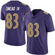 Youth Nike Baltimore Ravens Willie Snead IV Purple Team Color Vapor Untouchable Jersey - Limited
