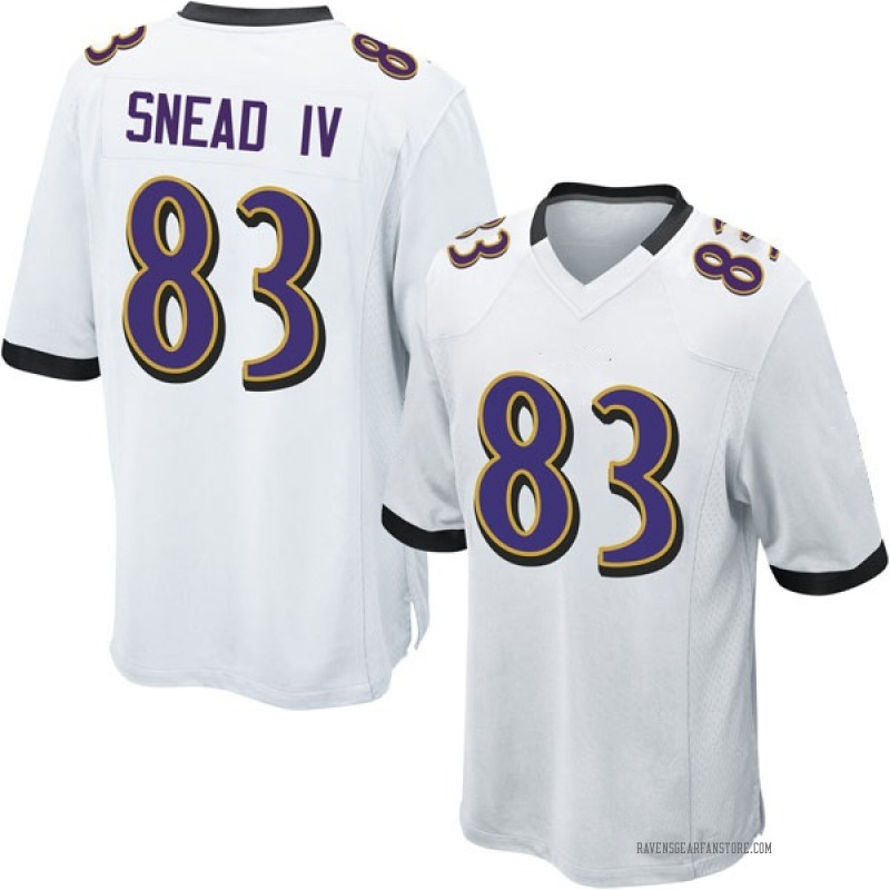 Youth Nike Baltimore Ravens Willie Snead IV White Jersey - Game