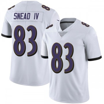 Youth Nike Baltimore Ravens Willie Snead IV White Vapor Untouchable Jersey - Limited