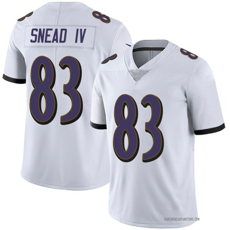 competitive price 705ea 4db5f Youth Nike Baltimore Ravens Willie Snead IV White Vapor Untouchable Jersey  - Limited